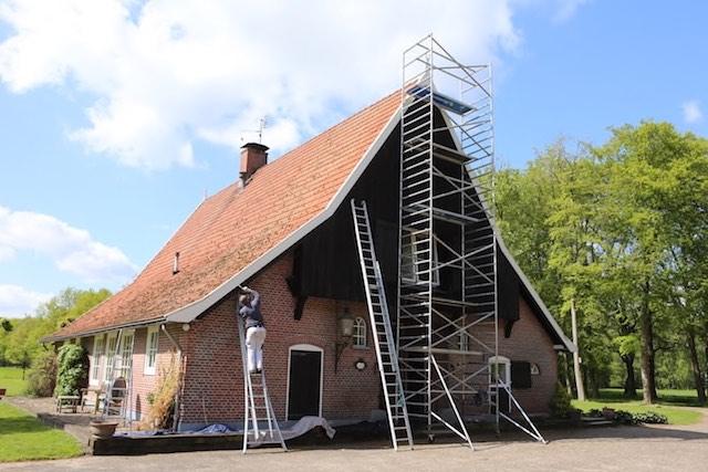 Buitenschilderwerk boerderij Enschede Mellink Schilders