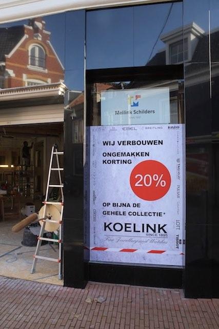 Mellink Schilders binnenschilderwerk winkelpand Juwelier Koelink Enschede