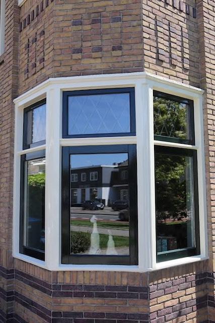 Buitenschilderwerk nieuwe kozijnen woning Enschede Mellink Schilders